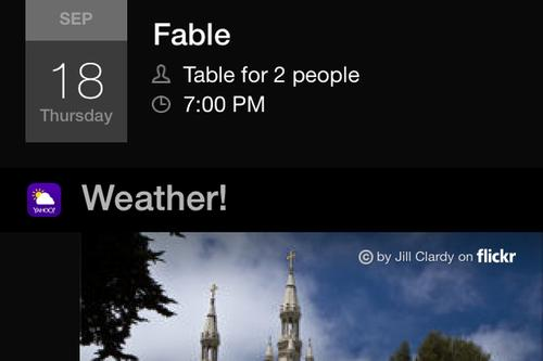 Yahoo Weather conveniently displays a thumbnail image of current weather conditions for your geographic area along with current conditions, temperature information and a quick forecast.