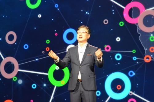 Samsung's B.K. Yoon at CES on Monday
