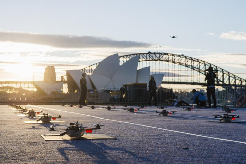 Intel's world-record-holding drone performance, made its public debut as part of Vivid Festival in Sydney.