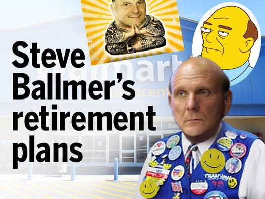 In Pictures: Steve Ballmer's retirement plans