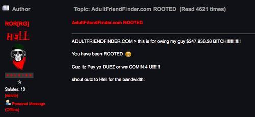 Adult friend finder account