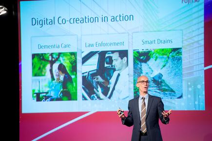 "Mike Foster, CEO, Fujitsu Australia and New Zealand, says the three projects covering dementia care, law enforcement and smart drains represent ""digital co-creation in action""."