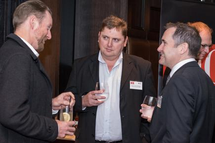 Andries van der Westhuizen (centre) at a CIO New Zealand event