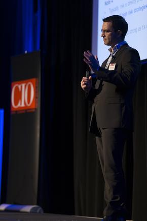 Ian Forrester of Plan B at a CIO100 event