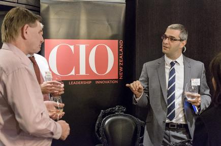 Alin Ungureanu at a CIO roundtable discussion in Auckland