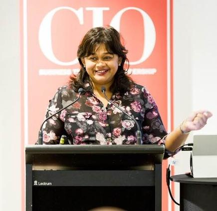Audrey William, director ICT Australia and New Zealand for Frost & Sullivan talks about 'How Digital Disruption Will Impact Organisations In The Next Decade' (Photo by Jason Creaghan)