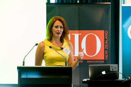 Lena Jenkins at the 2018 CIO-CMO Exchange in Auckland