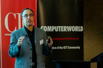 Zoho president Raj Sabhlok at the CIO and Computerworld breakfast forum 'Digital Savvy, Digital Now' in Auckland