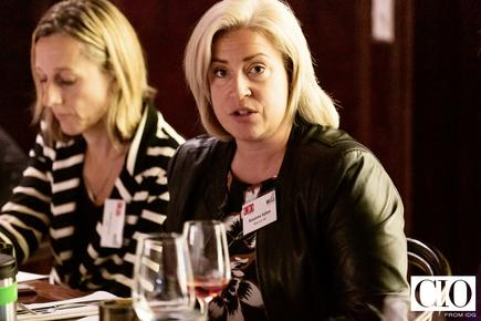 Roxanne Salton at a CIO roundtable discussion on 'building an AI-driven business'