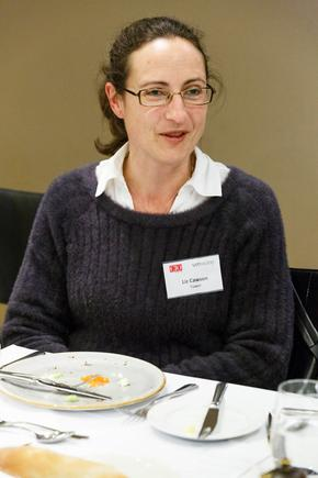 Liz Cawson at a CIO roundtable discussion in Auckland