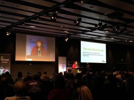 Minister Clare Curran talks about the national CTO role at her keynote at the 2017 NetHui