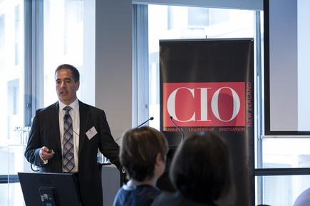 David Spaziani at the 2015 CIO100 event in Auckland.