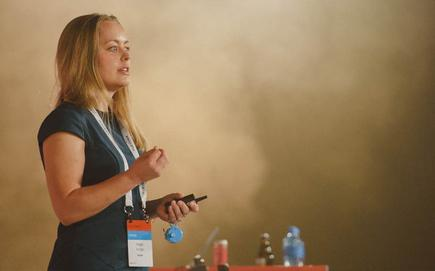 Angie Judge (Dexibit) speaking at Microsoft Ignite 2016