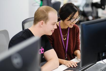 Chester Booker and Karen Xie are part of the MYOB Future Makers Academy