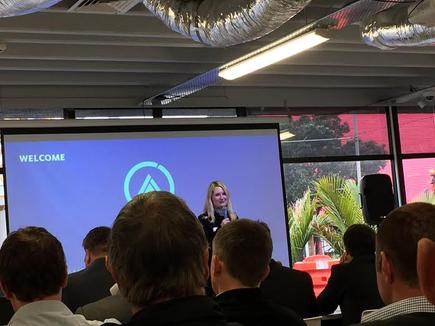 Sonya Crosby, General Manager – Digital Innovation at Fonterra, welcomes participants at the Source Activate Event