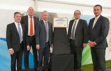 From L to R – Fonterra Managing Director Global Operations Robert Spurway, CEO Theo Spierings, Mayor Ross Dunlop, Whanganui MP Hon. Chester Borrows and Fonterra Director David MacLeod.