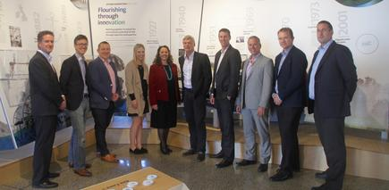 The Fonterra IS leadership team: Brent Bain, Laurent Haumonte, Simon Cowley, Anneliese Cleary, Cynthia Patterson, Gerben Otter, Joshua Bankers, Mark Smith, Mike Butler, Nigel Alder (not in photo: Andrew Dennis). They work closely with the disrupt team, composed of members from different units of Fonterra.