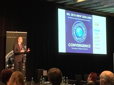 Andrew Milroy at the Frost & Sullivan 2015 Growth, Innovation and Leadership conference in Auckland
