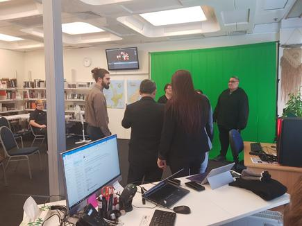 "Grant Strang of TWoA: ""We recently had an awesome day with the whānau in Porirua Campus working with them on their green screen setup. We had a number of kaiako (teacher) and tauira (student) come to a demonstration to try out the tools and to assess how to apply these tools in their teaching and learning environments."""