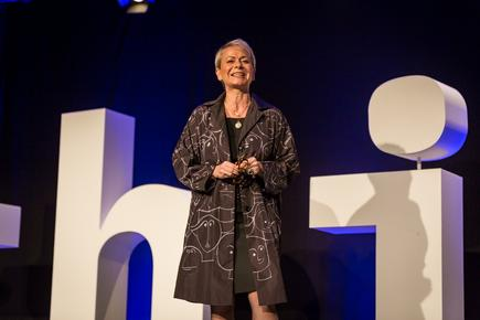 Harriet Green, chairman and CEO, IBM Asia Pacific at the at the 2018 Think NZ: Using technologies to solve 'large scale global problems'