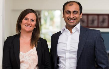 Ilumony founder and chief executive Rachel Strevens and co-founder and chief technology officer Abhy Singla.