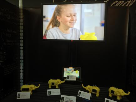 Children of ASB staff were among those who tested the prototypes