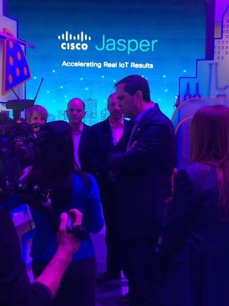Jupl CEO Alan Brannigan at the Mobile World Congress in Barcelona.
