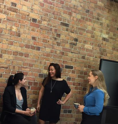 Tech entrepreneurs (from left): Gemma Hurst of PageProof, Miriana Lowrie of 1Centre and Angie Judge of Dexibit (Photo by Divina Paredes)