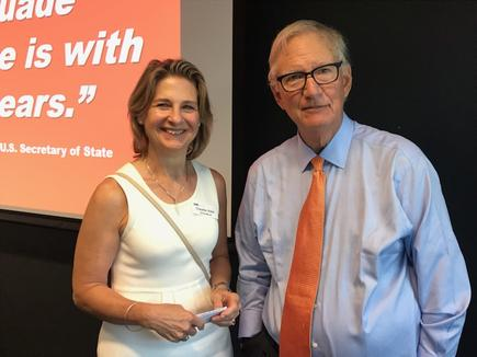The author with Tom Peters at the University of Auckland Business School