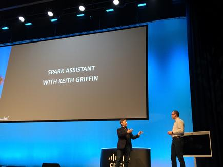 Rowan Trollope and Keith Griffin at the 2018 Cisco Live in Melbourne