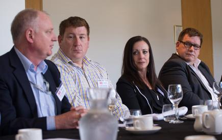 Richard Ashworth (second from left) at a CIO roundtable discussion in Wellington.