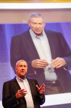 SAS CEO Jim Goodnight at the the 2017 Analytics Experience in Amsterdam.