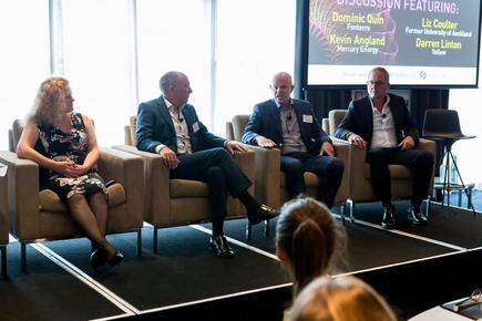 "Kevin Angland at the industry panel discussion @the 2018 CIO-CMO Exchange in Auckland: ""As the workforce of the future evolves and we rely more on ecosystems to get things done, that will include working with different parties and different people."""