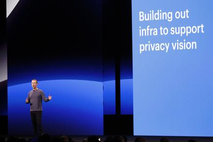 Facebook CEO Mark Zuckerberg speaks about privacy during his keynote at Facebook Inc's annual F8 developers conference in San Jose, California, U.S., April 30, 2019. REUTERS/Stephen Lam