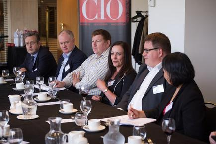Matti Seikkula at a CIO roundtable discussion in Wellington.