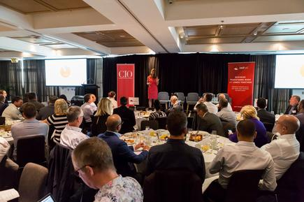 Michele Caminos at the CIO100 event in Auckland