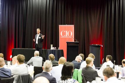 Mike Bullock of Fujitsu at the CIO100 event in Auckland (photo by Jason Creaghan)