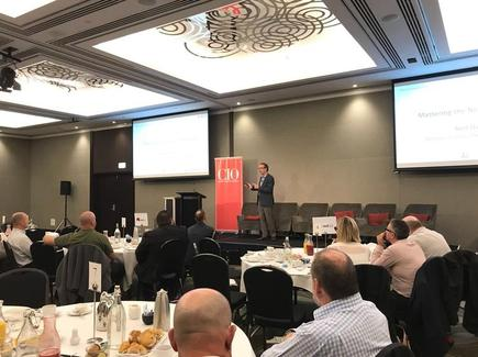 Neil Osmond at the CIO100 event in Wellington