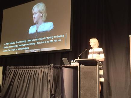 Communications Minister Amy Adams at NetHui 2015