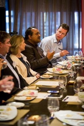 Richard Raj at a CIO roundtable discussion in Auckland.