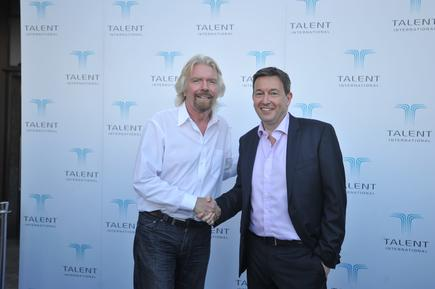 Sir Richard Branson and Richard Earl