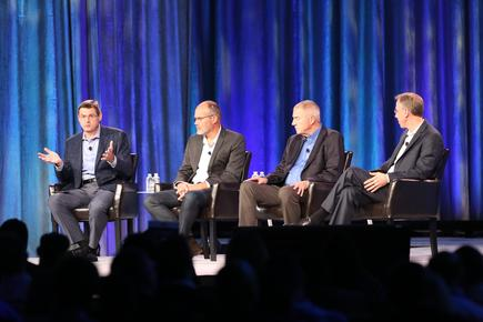 SAS CTO Oliver Schabenberger at a panel discussion at the Analytics Experience in Las Vegas.