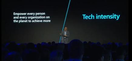Satya Nadella at the Microsoft Envision Forum in Auckland: 'Our mission is to empower every person and every organisation in New Zealand to build your own technology with intensity, and have broad impact on society and the economy'
