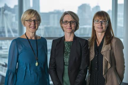 The Precision Driven Health team: Science director Prof Gill Dobbie, Board member Kate Reid, and Theme leader associate prof Robyn Whittaker.