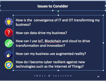 Audrey William, director ICT Australia and New Zealand for Frost & Sullivan on top issues to consider.