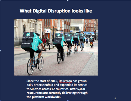 Audrey William, director ICT Australia and New Zealand for Frost & Sullivan shows a prime example of disruption
