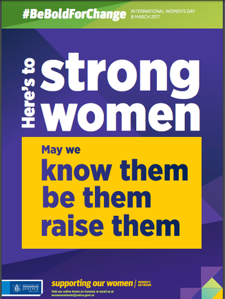 The team put up these posters last week during the celebration of  International Women's Day.
