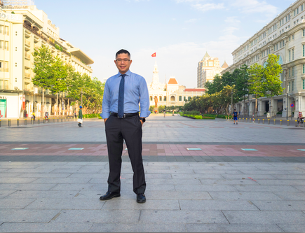 NZTech chair Mitchell Pham in during a recent visit to Vietnam