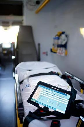 Samsung tablets will be used by ambulance officers as part of a new electronic system designed to replace handwritten clinical notes.