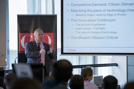 Steve Griffin at the 2015 CIO100 event in Auckland.